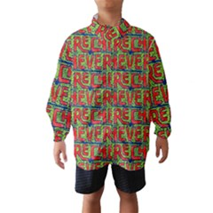 Typographic Graffiti Pattern Wind Breaker (Kids)