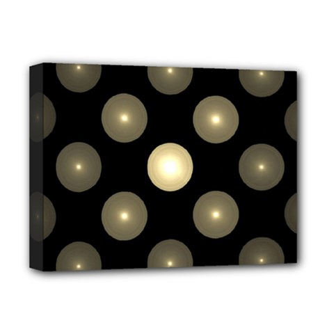 Gray Balls On Black Background Deluxe Canvas 16  x 12
