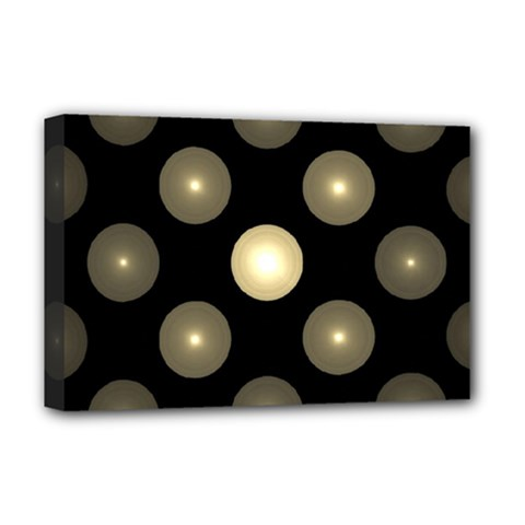 Gray Balls On Black Background Deluxe Canvas 18  x 12