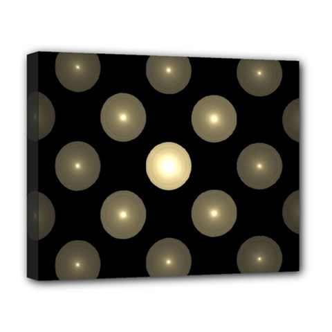 Gray Balls On Black Background Deluxe Canvas 20  x 16