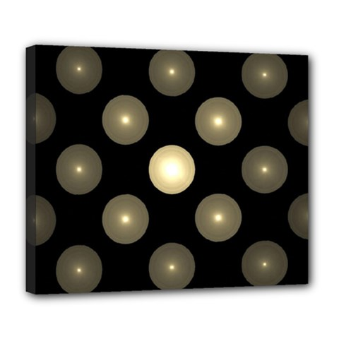 Gray Balls On Black Background Deluxe Canvas 24  X 20
