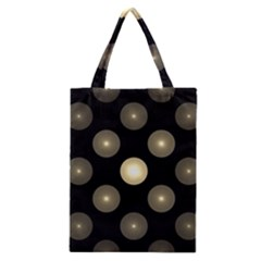 Gray Balls On Black Background Classic Tote Bag