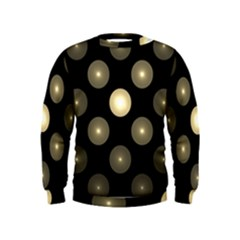 Gray Balls On Black Background Kids  Sweatshirt