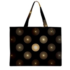 Gray Balls On Black Background Zipper Mini Tote Bag