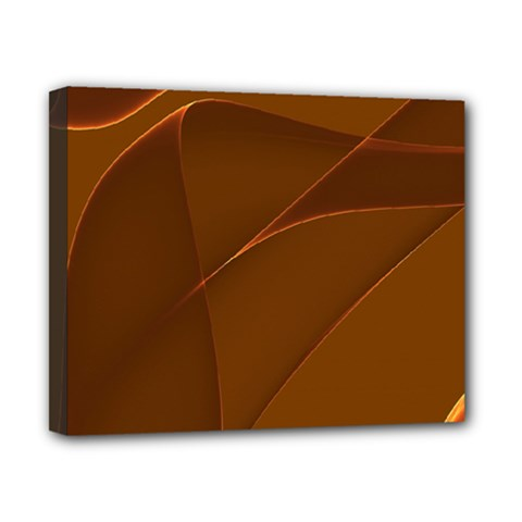 Brown Background Waves Abstract Brown Ribbon Swirling Shapes Canvas 10  x 8
