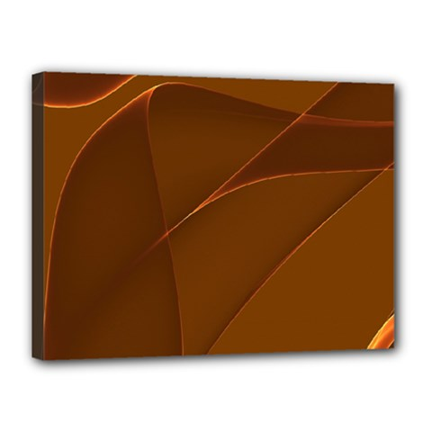 Brown Background Waves Abstract Brown Ribbon Swirling Shapes Canvas 16  x 12