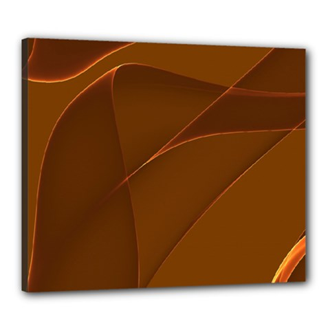 Brown Background Waves Abstract Brown Ribbon Swirling Shapes Canvas 24  x 20