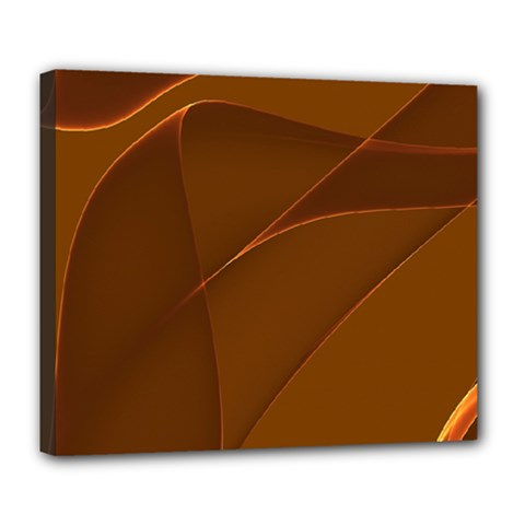 Brown Background Waves Abstract Brown Ribbon Swirling Shapes Deluxe Canvas 24  X 20