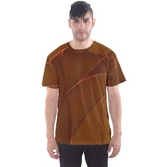 Brown Background Waves Abstract Brown Ribbon Swirling Shapes Men s Sport Mesh Tee
