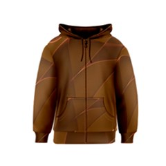 Brown Background Waves Abstract Brown Ribbon Swirling Shapes Kids  Zipper Hoodie