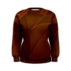 Brown Background Waves Abstract Brown Ribbon Swirling Shapes Women s Sweatshirt