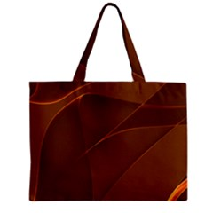 Brown Background Waves Abstract Brown Ribbon Swirling Shapes Zipper Mini Tote Bag
