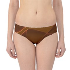 Brown Background Waves Abstract Brown Ribbon Swirling Shapes Hipster Bikini Bottoms