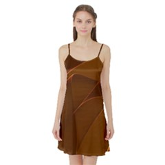 Brown Background Waves Abstract Brown Ribbon Swirling Shapes Satin Night Slip