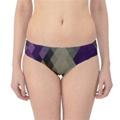 Background Of Blue Gold Brown Tan Purple Diamonds Hipster Bikini Bottoms