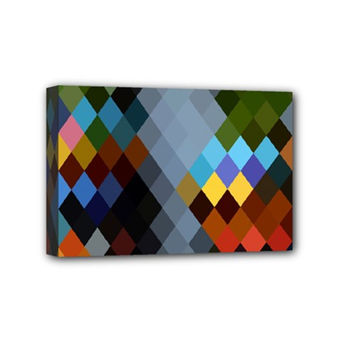 Diamond Abstract Background Background Of Diamonds In Colors Of Orange Yellow Green Blue And More Mini Canvas 6  X 4