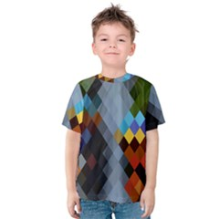 Diamond Abstract Background Background Of Diamonds In Colors Of Orange Yellow Green Blue And More Kids  Cotton Tee