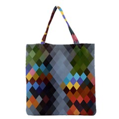 Diamond Abstract Background Background Of Diamonds In Colors Of Orange Yellow Green Blue And More Grocery Tote Bag