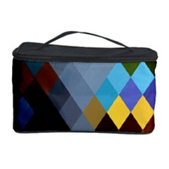 Diamond Abstract Background Background Of Diamonds In Colors Of Orange Yellow Green Blue And More Cosmetic Storage Case