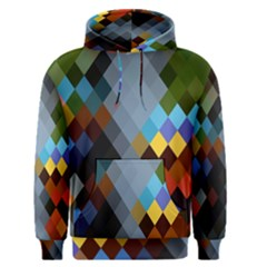 Diamond Abstract Background Background Of Diamonds In Colors Of Orange Yellow Green Blue And More Men s Pullover Hoodie