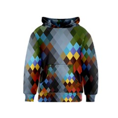 Diamond Abstract Background Background Of Diamonds In Colors Of Orange Yellow Green Blue And More Kids  Pullover Hoodie