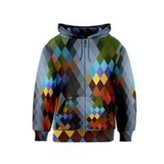 Diamond Abstract Background Background Of Diamonds In Colors Of Orange Yellow Green Blue And More Kids  Zipper Hoodie