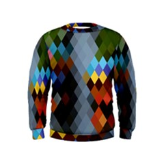 Diamond Abstract Background Background Of Diamonds In Colors Of Orange Yellow Green Blue And More Kids  Sweatshirt