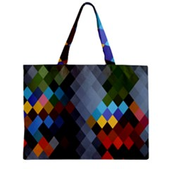 Diamond Abstract Background Background Of Diamonds In Colors Of Orange Yellow Green Blue And More Zipper Mini Tote Bag