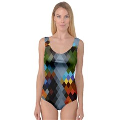 Diamond Abstract Background Background Of Diamonds In Colors Of Orange Yellow Green Blue And More Princess Tank Leotard