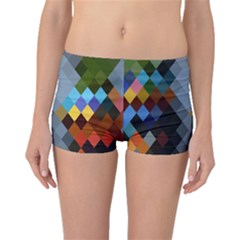 Diamond Abstract Background Background Of Diamonds In Colors Of Orange Yellow Green Blue And More Boyleg Bikini Bottoms