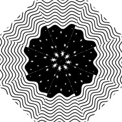 Black And White Waves And Stars Abstract Backdrop Clipart Hook Handle Umbrellas (Small)