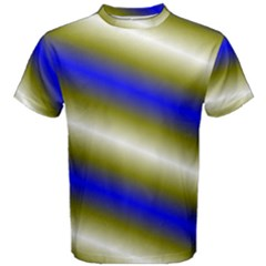 Color Diagonal Gradient Stripes Men s Cotton Tee