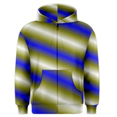 Color Diagonal Gradient Stripes Men s Zipper Hoodie