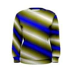 Color Diagonal Gradient Stripes Women s Sweatshirt