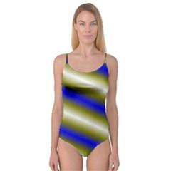 Color Diagonal Gradient Stripes Camisole Leotard