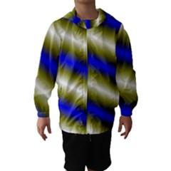 Color Diagonal Gradient Stripes Hooded Wind Breaker (Kids)