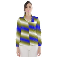 Color Diagonal Gradient Stripes Wind Breaker (Women)