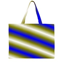 Color Diagonal Gradient Stripes Large Tote Bag