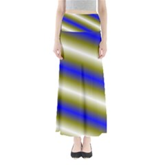 Color Diagonal Gradient Stripes Maxi Skirts