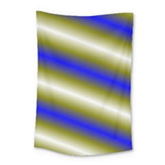 Color Diagonal Gradient Stripes Small Tapestry