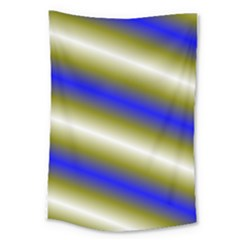Color Diagonal Gradient Stripes Large Tapestry