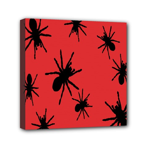 Illustration With Spiders Mini Canvas 6  X 6
