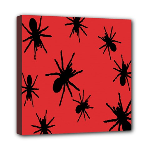 Illustration With Spiders Mini Canvas 8  x 8