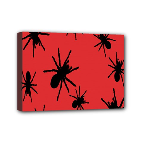 Illustration With Spiders Mini Canvas 7  x 5
