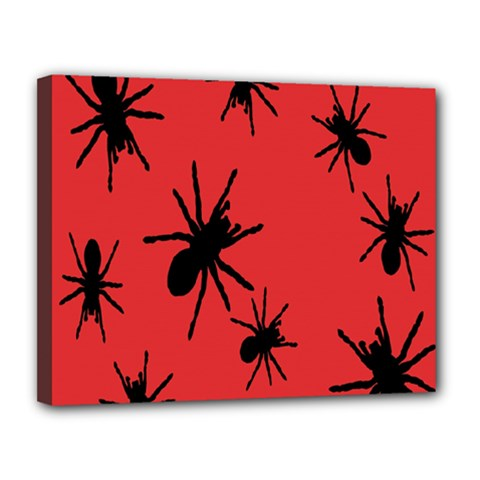 Illustration With Spiders Canvas 14  X 11