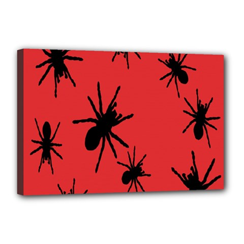 Illustration With Spiders Canvas 18  X 12