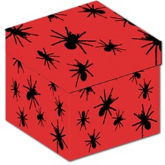 Illustration With Spiders Storage Stool 12