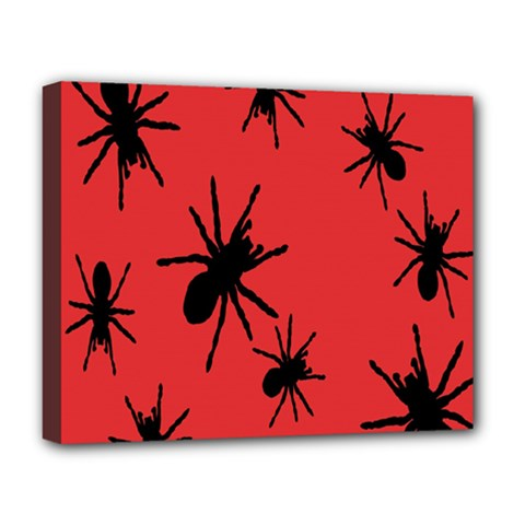 Illustration With Spiders Deluxe Canvas 20  x 16