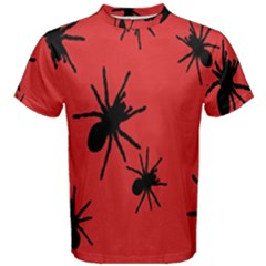 Illustration With Spiders Men s Cotton Tee