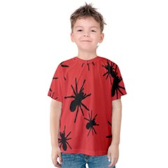 Illustration With Spiders Kids  Cotton Tee